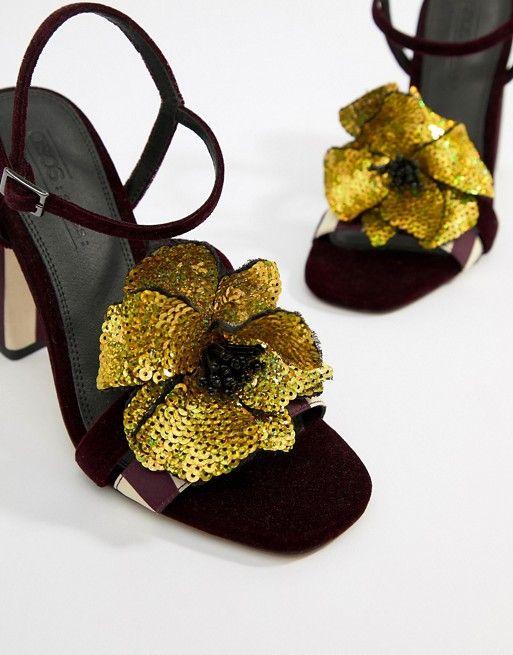 974b58a3ce2 DESIGN Horizon embellished heeled sandals i 2018