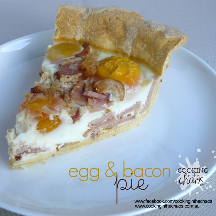 Egg and Bacon Pie - Cooking in the Chaos. Thermomix Recipe