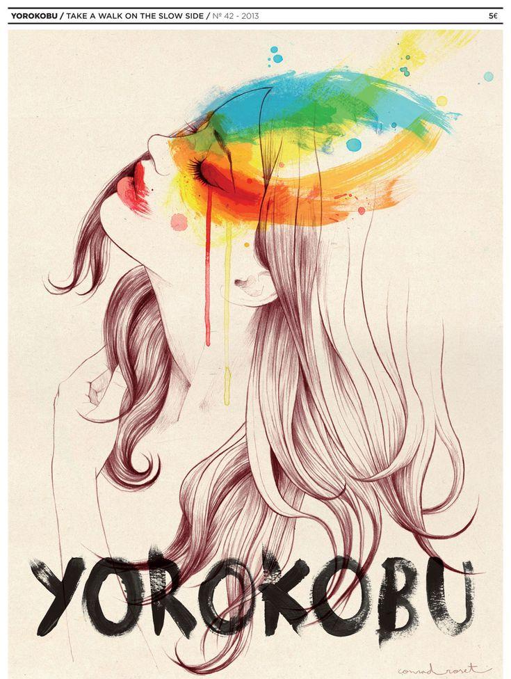 Portada Conrad. Yorokobu. Ilustraciones.