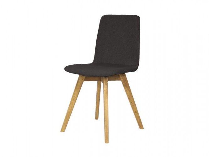 Mia - Jídelní židle (dub, látka antracitová) | Jena nábytek