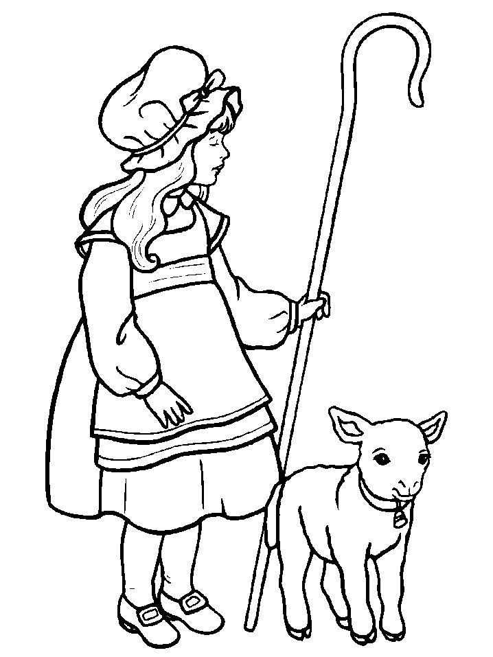 Meer dan 1000 afbeeldingen over coloring pages op for Little bo peep coloring pages
