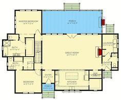 Exclusive Four Bed Farmhouse - 130005LLS   Architectural Designs - House Plans