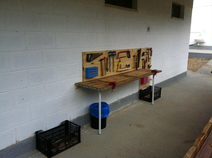 Taller de fusteria.  Taller de carpintería. Carpentry workshop.