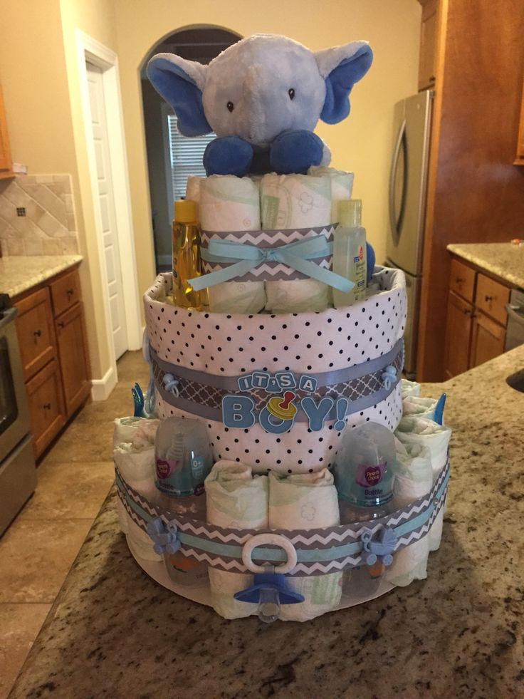 elephant diaper cake casey 39 s creations pinterest elephant diaper cakes cakes and elephants. Black Bedroom Furniture Sets. Home Design Ideas
