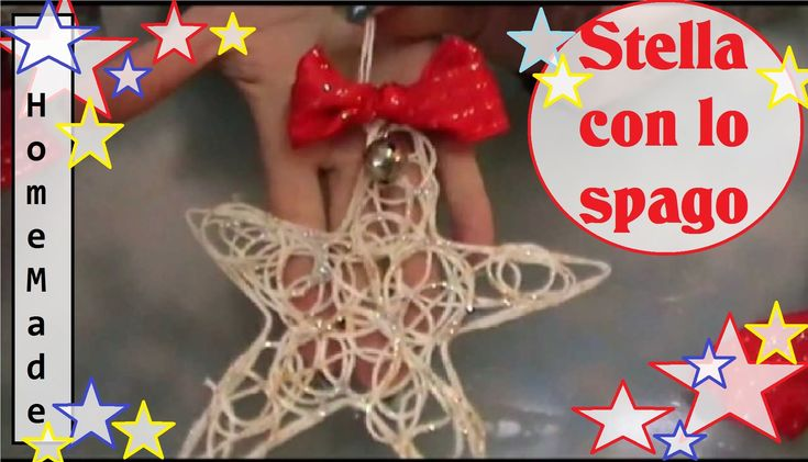 DIY- Creare una STELLA con dello spago - Addobbi per Natale Fai da Te