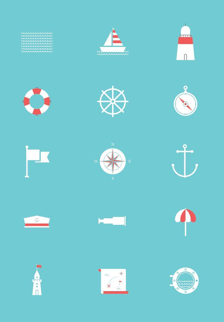 Sea Icon Set - Icons - Fribly