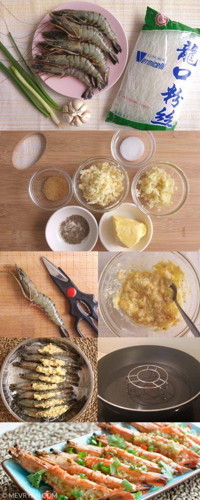 Hoe maak je gestoomde garnalen met knoflook? Authentiek Chinees recept hiervan vind je op food blog mevryan.com  #Chinese #recepten #Aziatisch #koken #garnalen #knoflook #stomen #authentiek