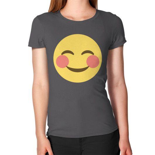 Blushing Emoji Women's T-Shirt