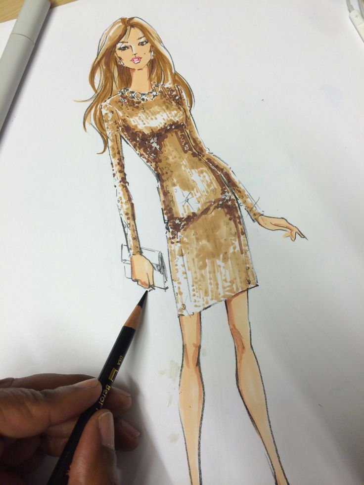 Renaldo Barnette sketches for The Eva Mendes Collection at NEW YORK & Company