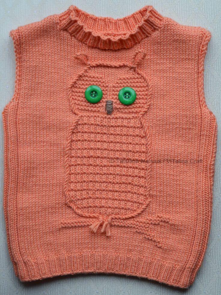 ViTalina Craft: Wise Owl Baby Vest Knitting Pattern