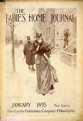 1895 Cover Ladies Home Journal Victorian Woman Magazine Snow Curtis Publishing | eBay