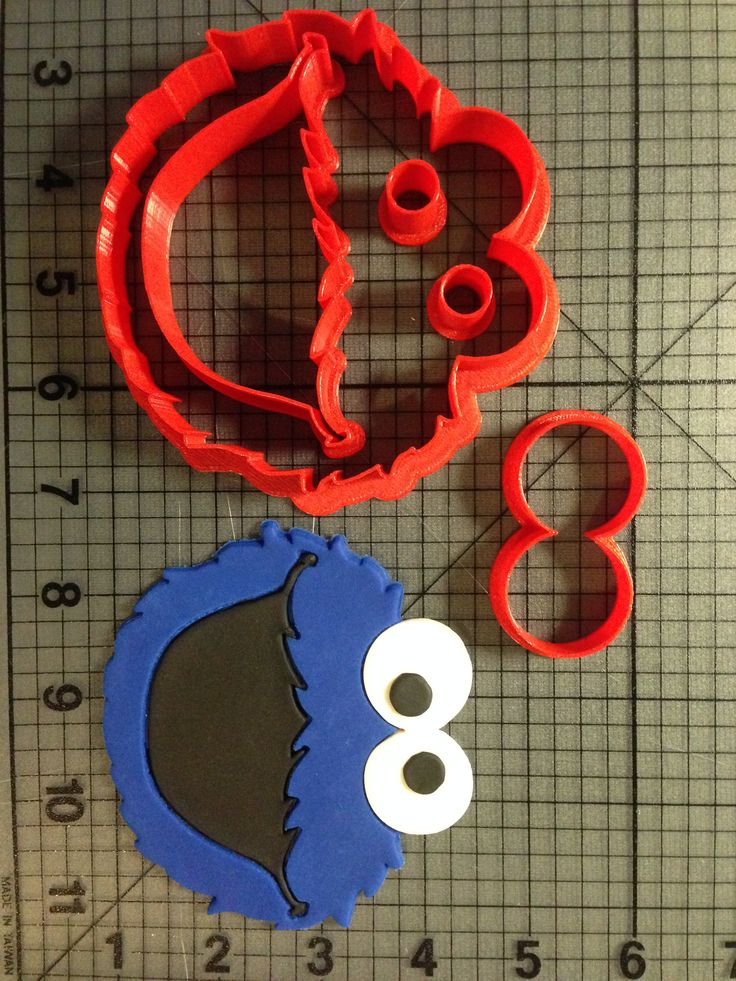 Cookie Monster Cookie Cutter Set JBCookieCutters.com