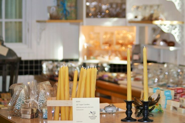 Our Taper Candles, in our shop: Madeline Island Candles