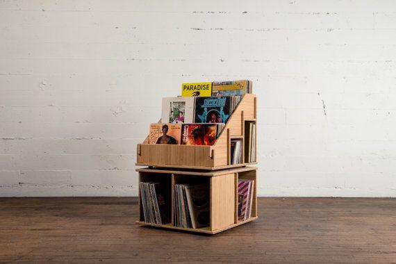 Vinyl Record Album storage furniture bin shelf display LP 12 inch & 45's.