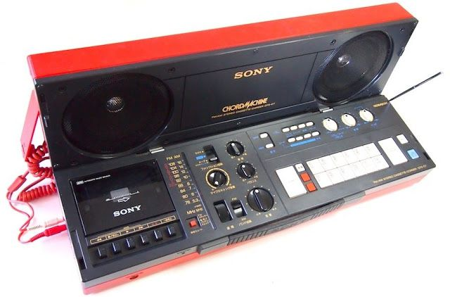 MATRIXSYNTH: 80s SONY CHORDMACHINE cool red boombox with chord ...
