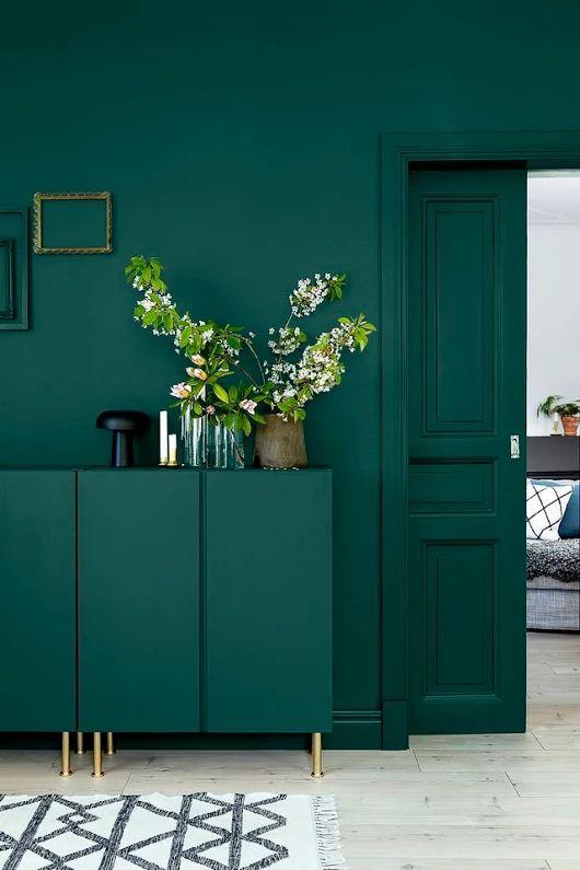 Vert Emeraude Interieur Flat In 2019 Bedroom Green Colorful