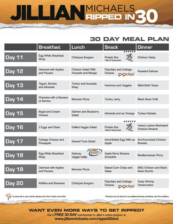 jillian michaels revolution meal plan pdf