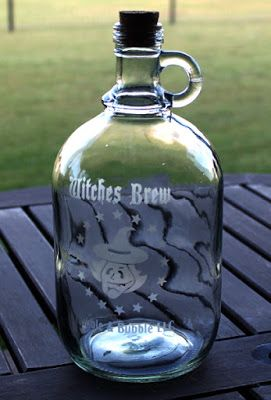 Life in the Craft Lane: Etched Glass Halloween Jug