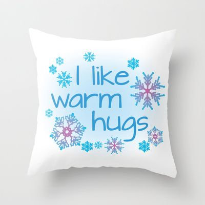 I like warm hugs - Disney Frozen - Elsa Anna Olaf Throw Pillow
