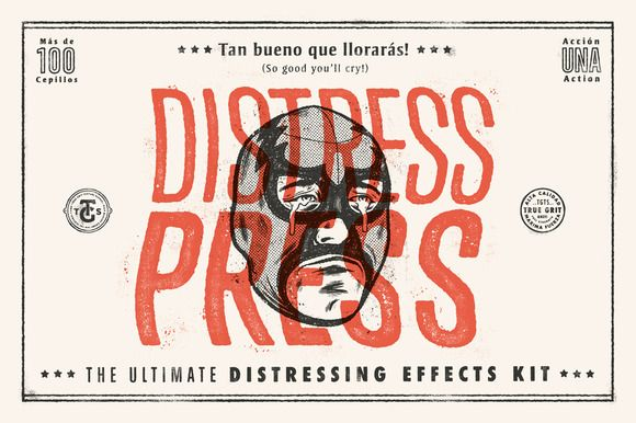 DISTRESS PRESS: Distressing Effects by True Grit Texture Supply on @creativemarket