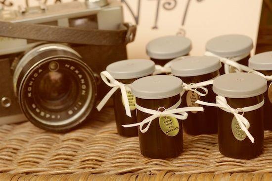 film pots for favours