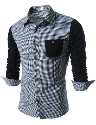 "REALLY digging this shirt: The ""Marcello"" 2-Toned Dress Shirt – Tattee Boy Clothes"
