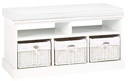 Bancă OURE 3 sertare pernă albă | JYSK