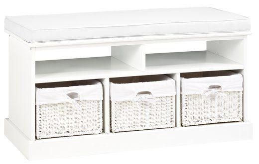 Bancă OURE 3 sertare pernă albă   JYSK