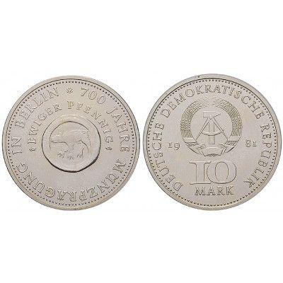 Ddr 10 Mark 1981 Münze Berlin St J 1582 Kupfer Nickel 10 Mark