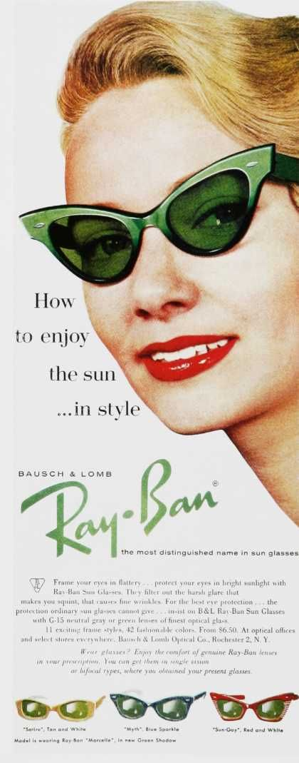 1960s sunglasses: Ray Bans, Catey, Cat Eye, Style, Ray Ban Outlets, Oakley Sunglasses, Vintage Ads, Ray Ban Sunglasses, Raybans