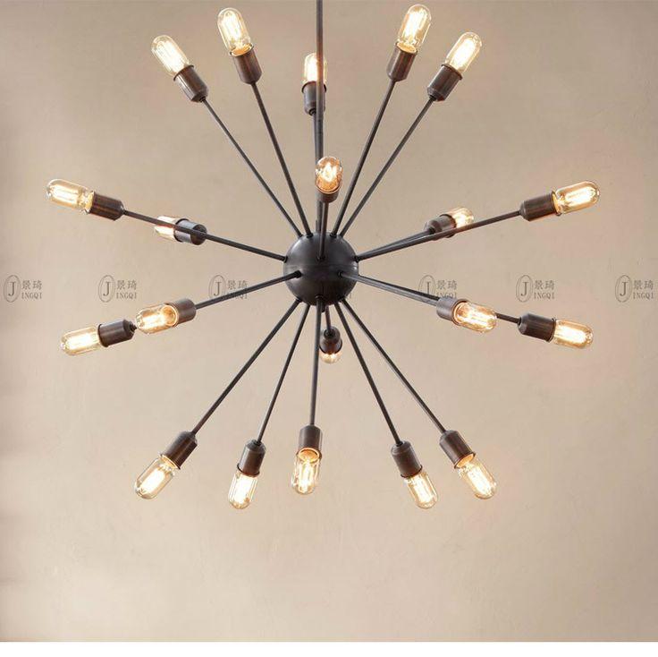 Noir E27 12 têtes 20 têtes lustre Créative Rétro industriel edison lampe salon salle à manger branche satellite lampe multi tête dans   de   sur AliExpress.com | Alibaba Group
