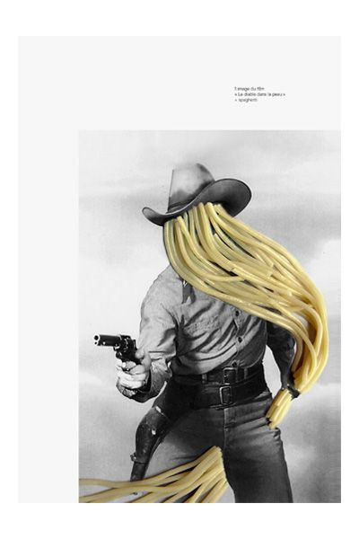 układ: zdjęcie/tekst Collage | spaghetti cowboy