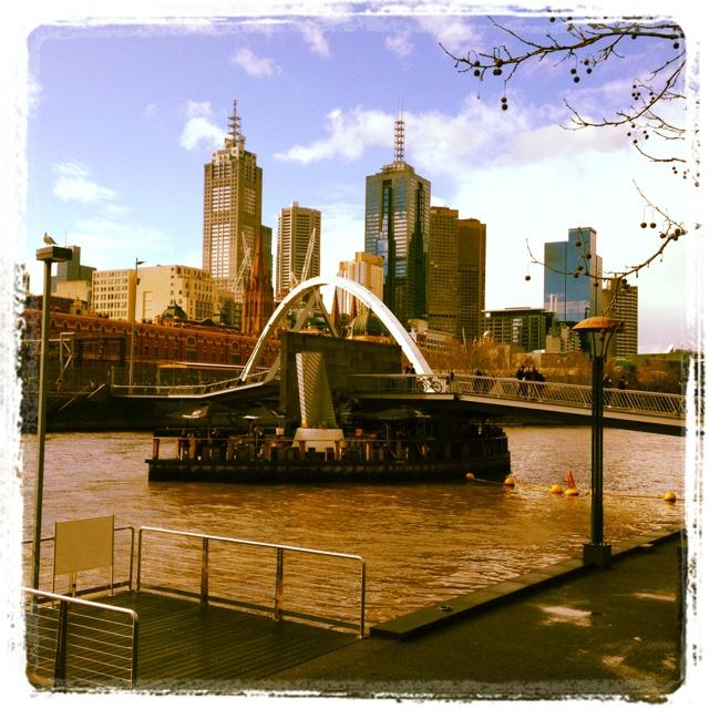 Bar on pontoon yarra river Melbourne