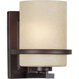 �Shandy 5-in W 1-Light Antique Bronze Arm Hardwired Wall Sconce