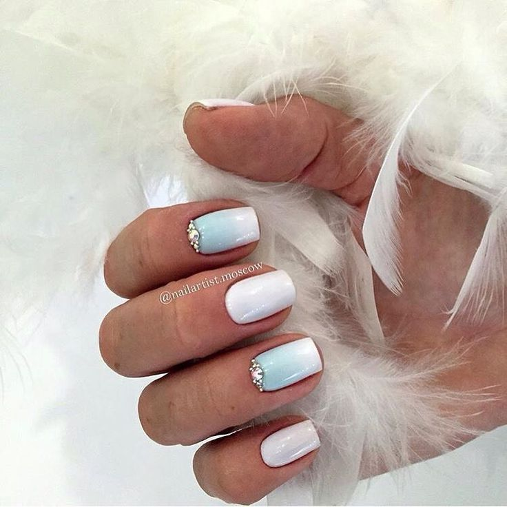 Everyday nails, Gradient nails with a transition, Nails ideas 2017, Nails with…