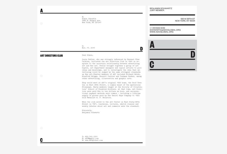 Picture of 4 designed by Patrick Slack for the project Art Directors Club. Published on the Visual Journal in date 11 April 2017