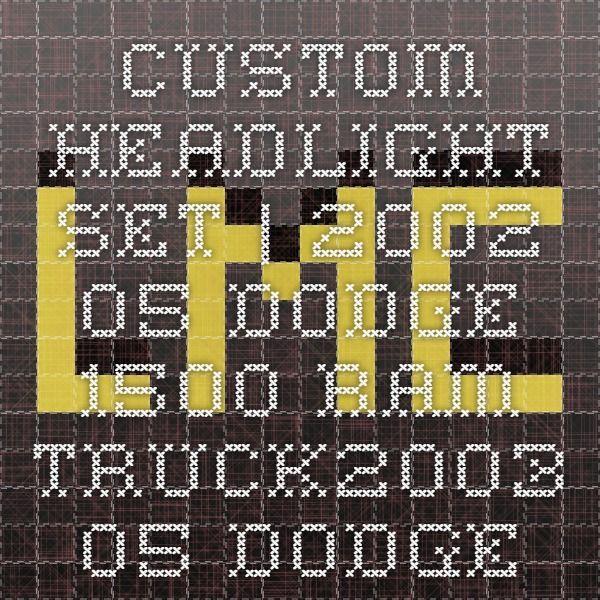 Custom Headlight Set | 2002-05 Dodge 1500 Ram Truck2003-05 Dodge 2500 Ram Truck2003-05 Dodge 3500 Ram Truck | LMC Truck