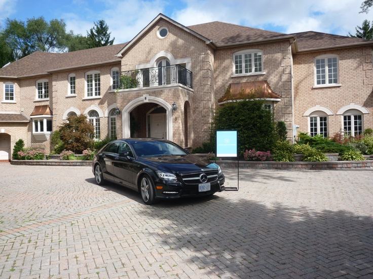 We had an open house on the weekend at 8 Fairfield Place and Mercedes-Benz Canada featured their new 2013 CLS!