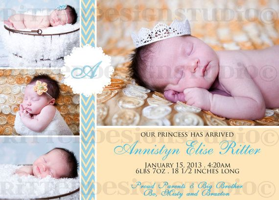 10 Best images about Baby Birth Announcement Ideas on – Elegant Birth Announcements