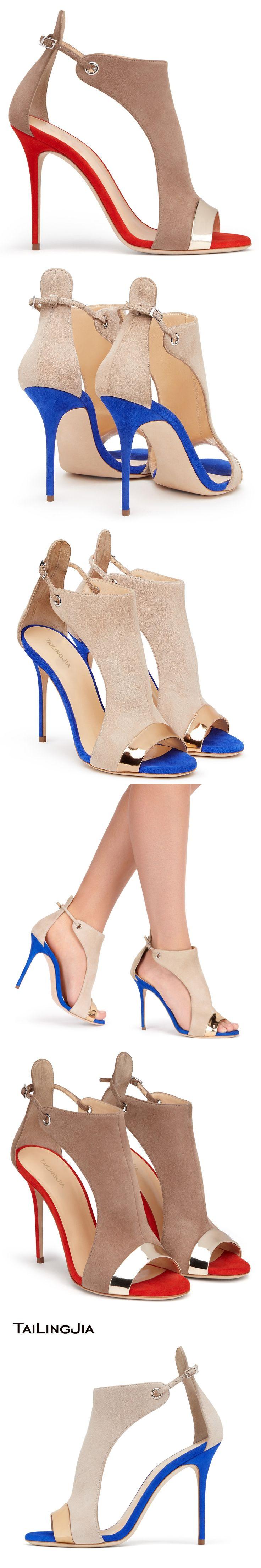 2017 Faux Leather Flock Cover Heel Women Sandals Mixed Color Peep Toe Shoes Large Size Ladies Shoes US4-15.5
