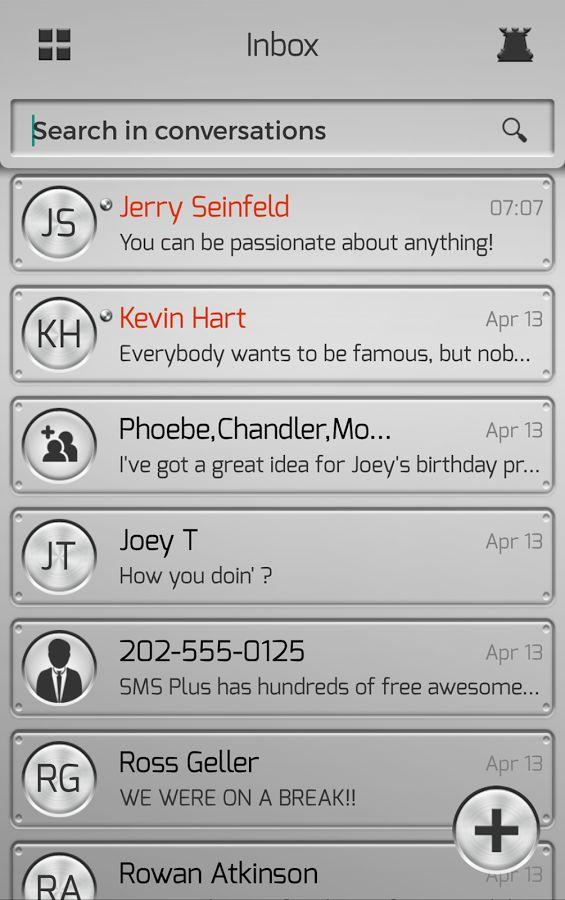Silver SMS Plus- screenshot