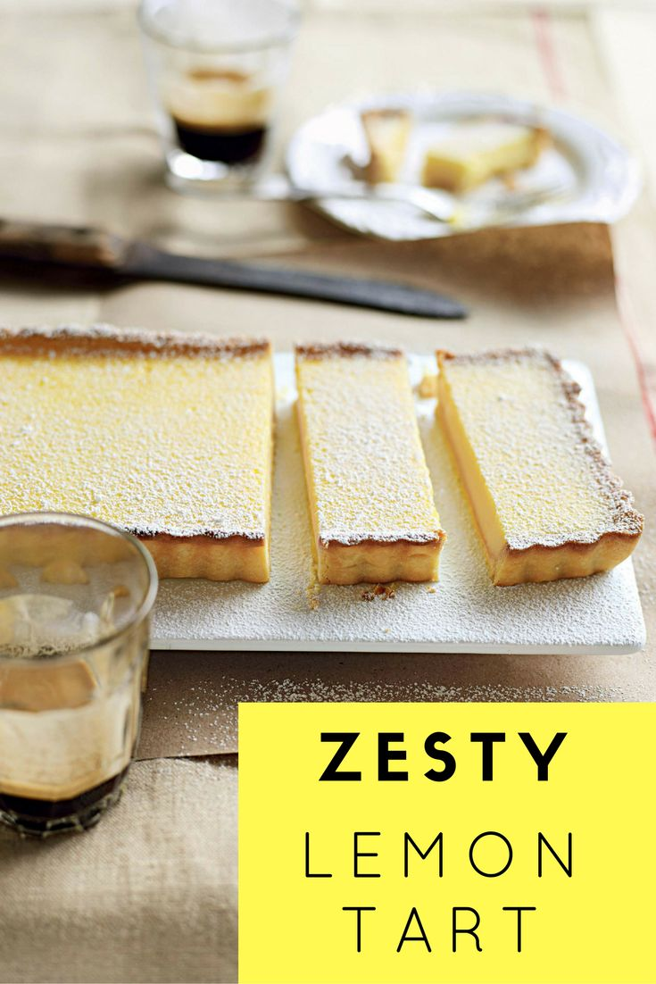 This zesty lemon tart is making all of your lemon dessert dreams come true! Click here for the recipe.