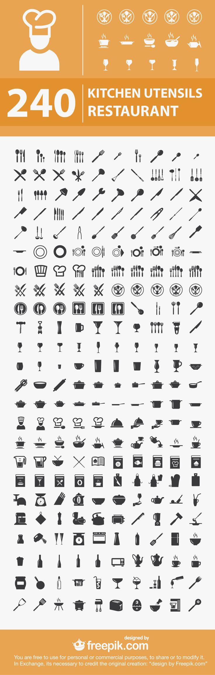 Free Kitchen Restaurant Icons
