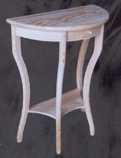 1553 Entrada media luna pequeña - 1553 - Entradas y Consolas - Muebles de pino macizo - Muebles