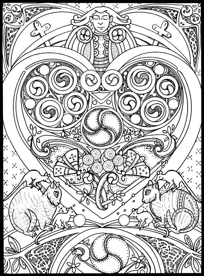 It is a graphic of Fan Celtic Coloring Pages For Adults