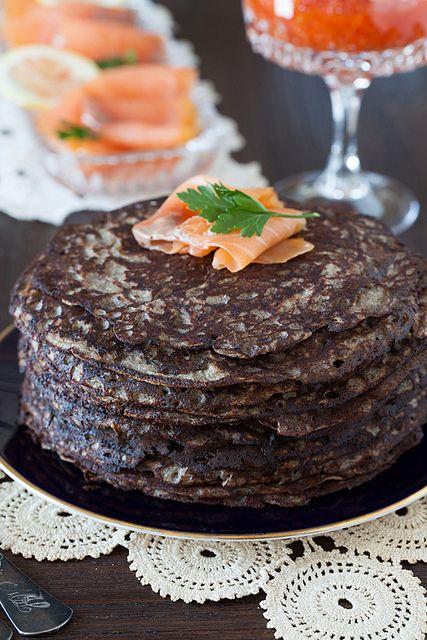 """Russian Monday: """"Blinis"""" - Savory Buckwheat Pancakes"""