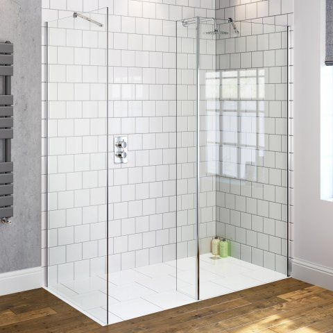 800mmx700mm Premium Wetroom Shower Enclosure & Side Panel 8mm thick glass - soak.com