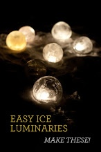 Easy DIY Ice Luminaries