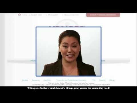 Resume Writing - applying for a federal job