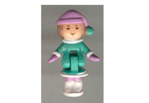 Vintage Polly Pocket Doll 1993 Polly's Ski Chalet  Tiny World Bluebird Toys Ref No. 940241 Mattel #11202 Lulu (aka Pixie),
